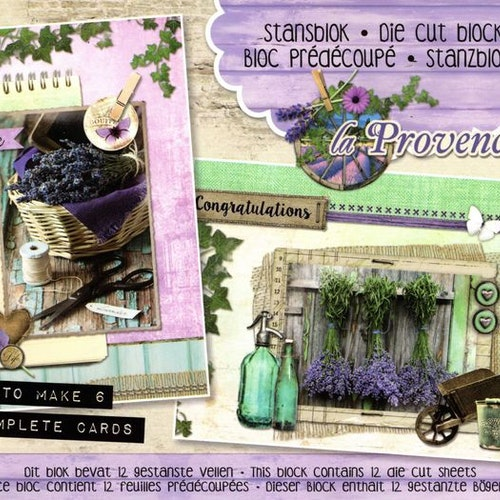 Die cuts block, studio light -  provence