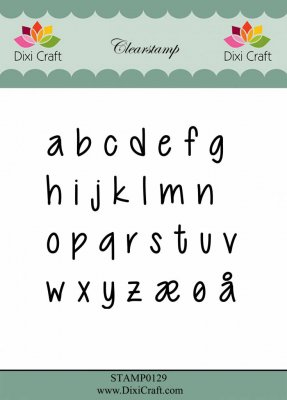 Dixi craft clearstamp - bokstäver gemener