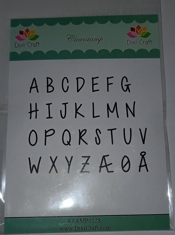 Dixi craft clearstamp - bokstäver versaler