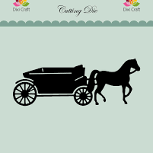 Dixi craft Dies - häst och vagn MDL055