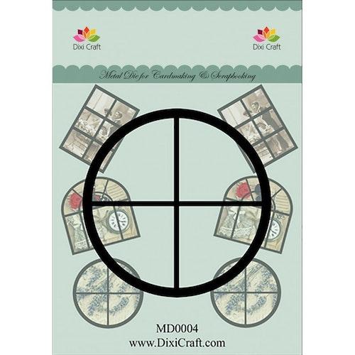 Dixi craft Dies - round window MD0004