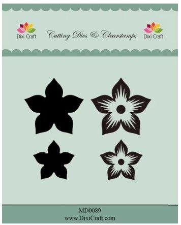 Dixi craft Dies & stamp - blomma MD0089
