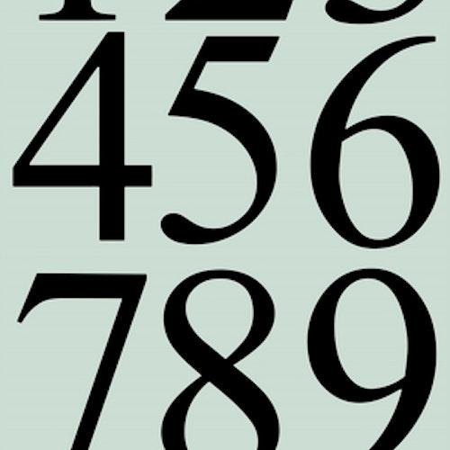 Dixi craft Dies -  EXTRA STORA siffror MD0161