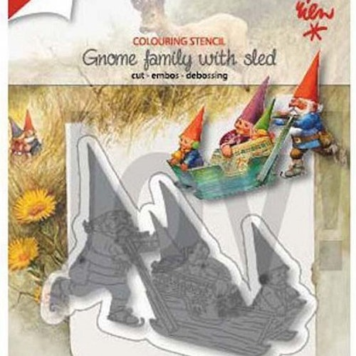 Joy! crafts dies - gnome family with  sled 1369