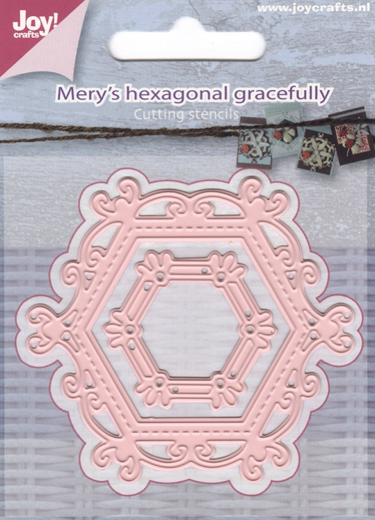 Joy! crafts Dies - Mery's hexagonal gracefully 6002/0658