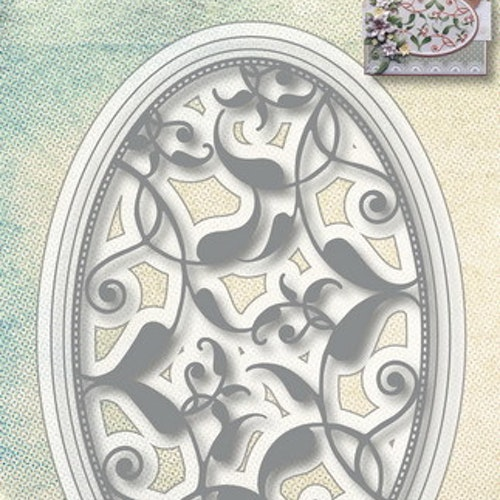 Joy! crafts Die - oval with leaf pattern 6002/1074