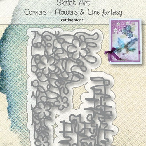 Joy! crafts Die - corners flowers & line 6002/1137