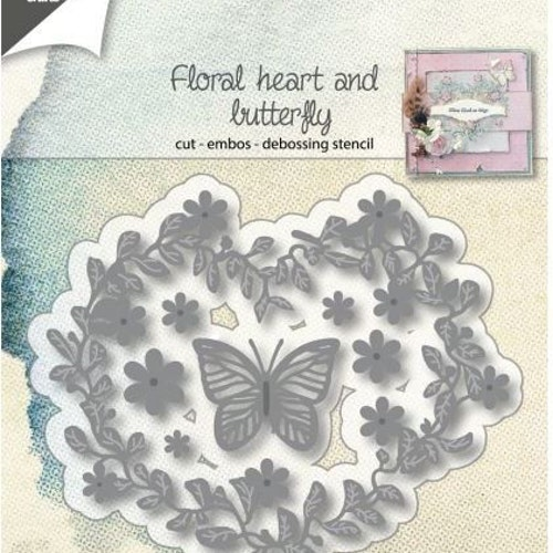 Joy! crafts Die - floral heart 6002/1137