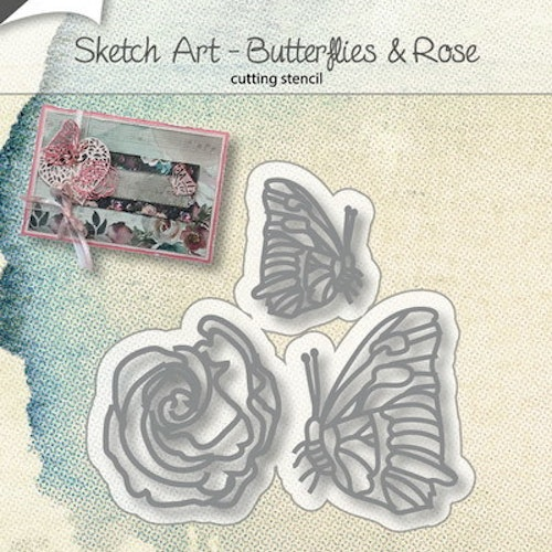 Joy! crafts Die - butterlies & rose 6002/1134