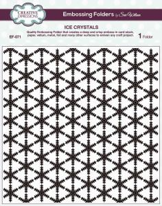 Creative Expressions Embossing Folder 8x8, Ice crystal