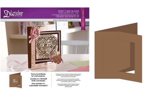 Creative Expressions Fancy cards - kraft 8 st DS-CB-CFOL-K