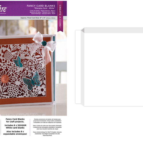 Creative Expressions Fancy cards - white 8 st DS-CB-DIA-W