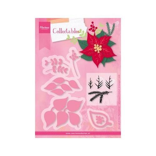 Marianne Design Die & stamp - Poinsettia COL1393