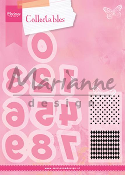 Marianne Design Dies & stamp - Siffror COL1347