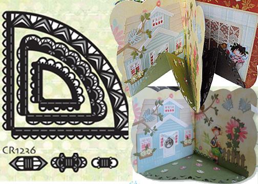 Marianne Design Dies - Carousel card CR1236