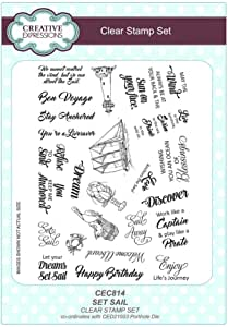 Creative Expressions Clear Stamp set - Set sail