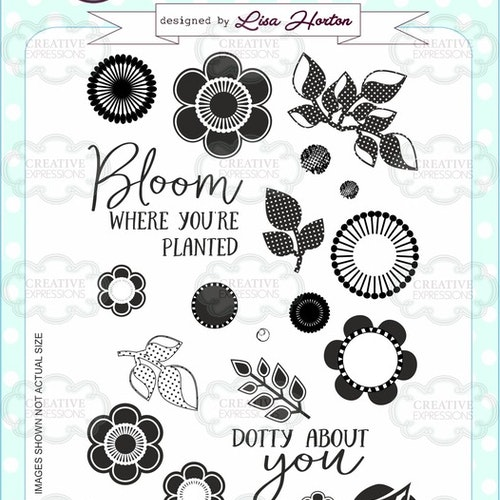 Creative Expressions Clear Stamp set - Dotty about you