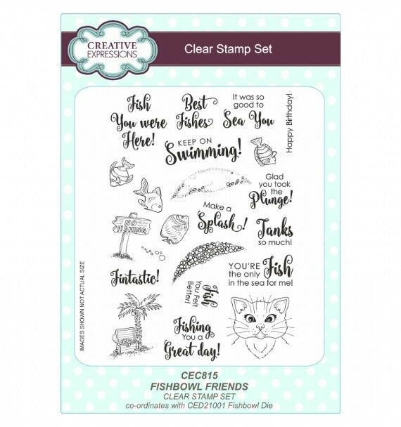 Creative Expressions Clear Stamp set - Fishbowl friends