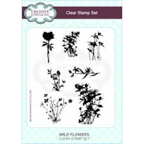 Creative Expressions Clear Stamp set - Wild flower