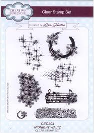 Creative Expressions Clear Stamp set - Midnight waltz