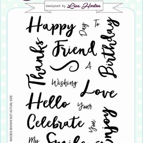 Creative Expressions Clear Stamp set - Stylish script