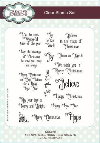 Creative Expressions Clear Stamp set - Festive traditions