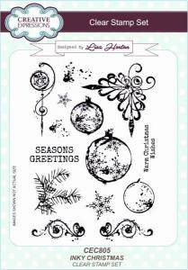 Creative Expressions Clear Stamp set - Inky christmas