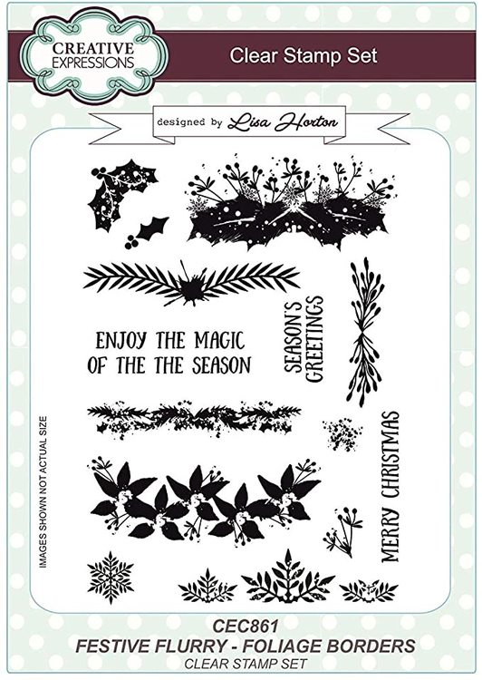 Creative Expressions Clear Stamp set - Festive flurry