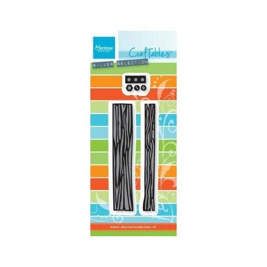 Marianne design Die - logs planks CR 1348