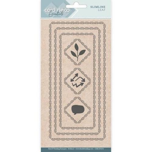Card deco dies -Slimline Leaf CDECD0101