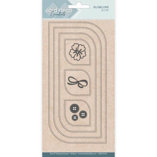 Card deco dies - Slimline Bow CDECD0102
