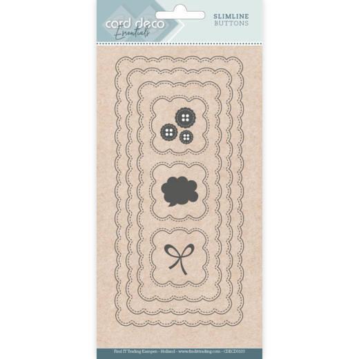 Card deco dies - Slimline Buttons CDECD0103