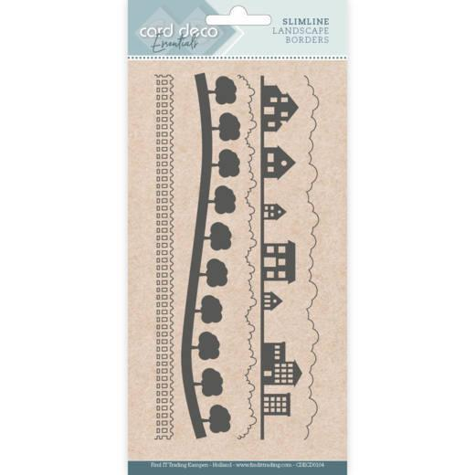 Card deco dies - Slimline Landscapes borders CDECD0104
