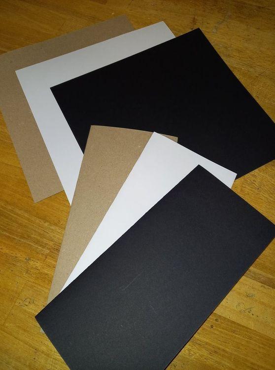 Slim line cardstock 20x21 cm Vit 10 st