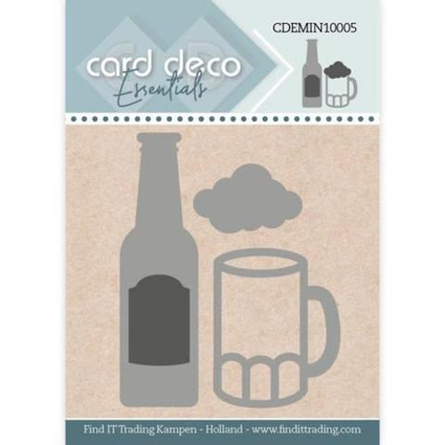 Card deco dies - Beer CDEMIN10005