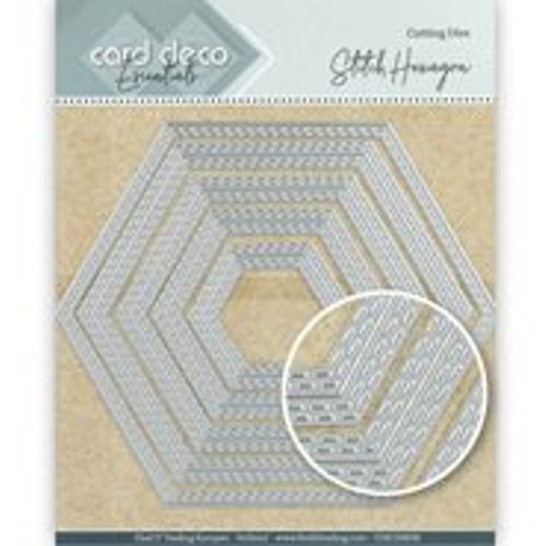 Card deco dies - Hexagon CDECD0030