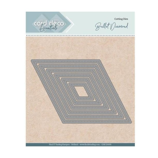 Card deco dies - Bullet Diamond CDECD0095