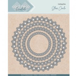 Card deco dies - Stars Circle CDECD0098