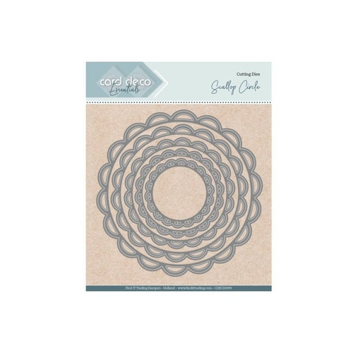 Card deco dies - Scallop Circle CDECD0099