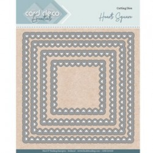 Card deco dies - Heart Square CDECD0100