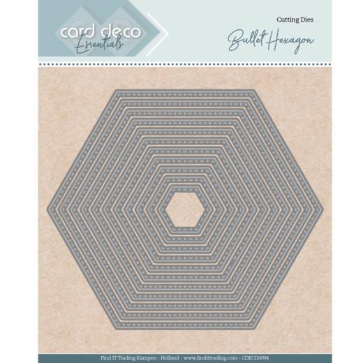 Card deco dies - Bullet Hexagon CDECD0094