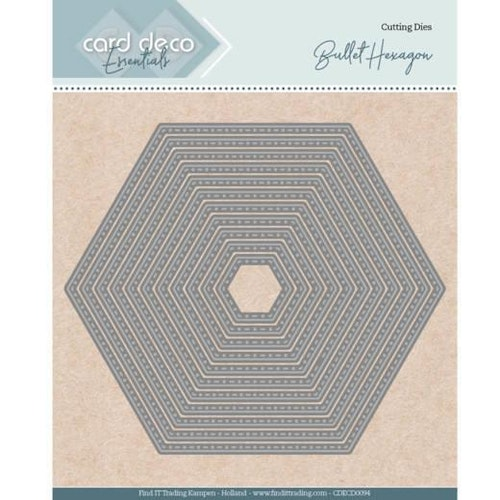 Card deco dies - Bullet Hexagon CDECD0094