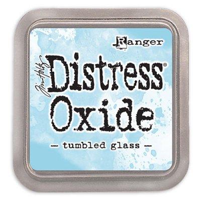 Distress oxide dyna, tumbled glass