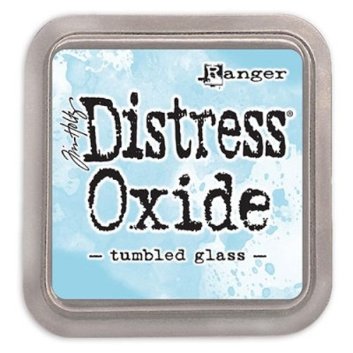 Distress oxide dyna, tumbled glass