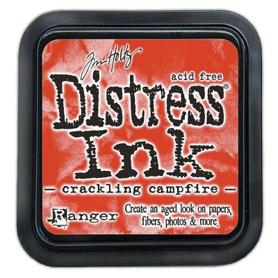 Distress ink pad, crackling campfire