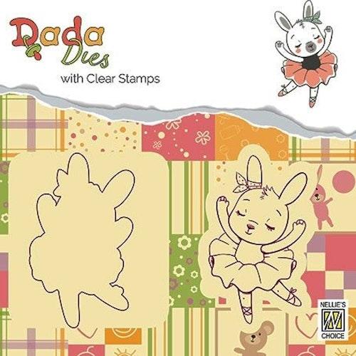 Nellie Snellen die+stamp - bunny ballerina