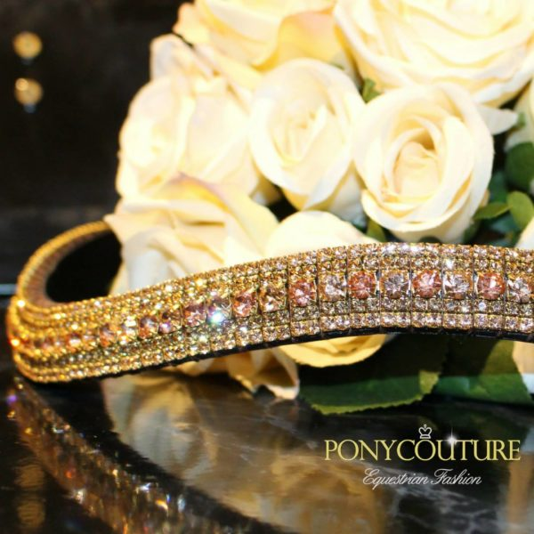 Peach and Apricot Alternating Antique Look Browbands Colour Pro (#PC2132)