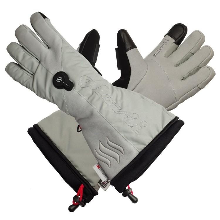 Oppvarmede hansker Hvite