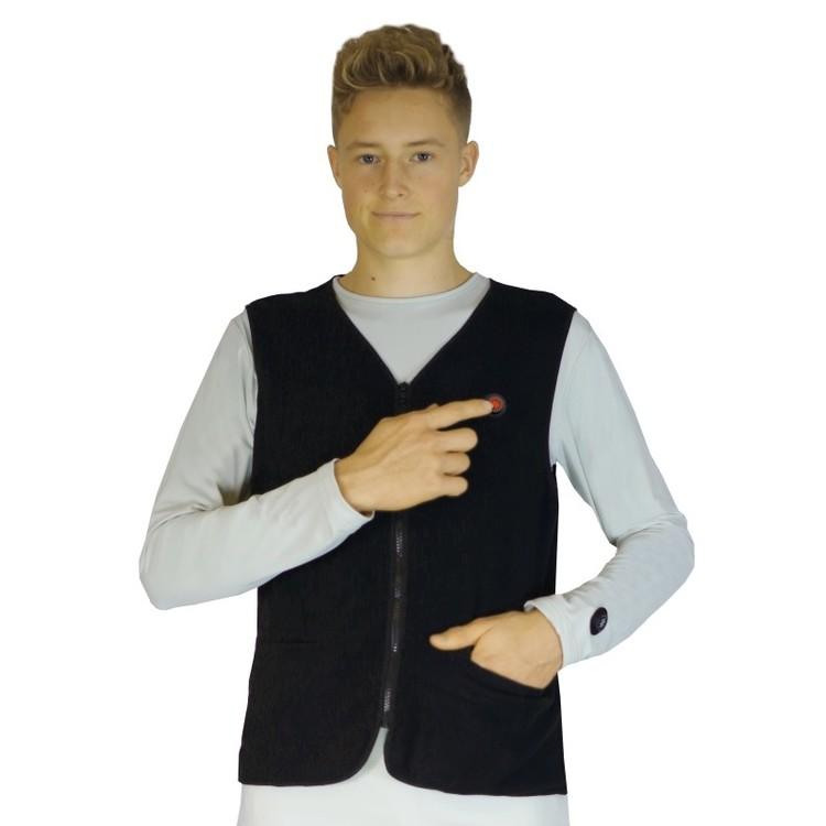 Oppvarmet fleece vest