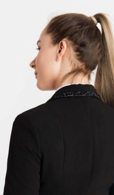 Dahlia Lehmann Black Crystal Show Jacket